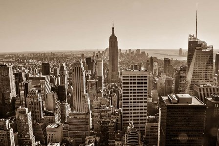 New York Sepia View by Bill Carson Photography art print