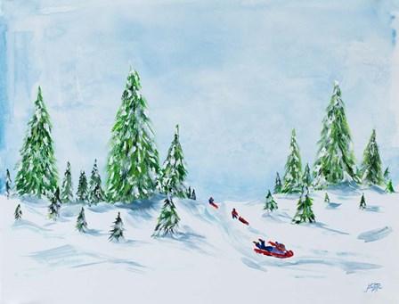 Winter Fun II by Julie DeRice art print