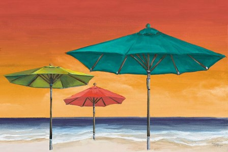 Tropical Umbrellas II by Tiffany Hakimipour art print