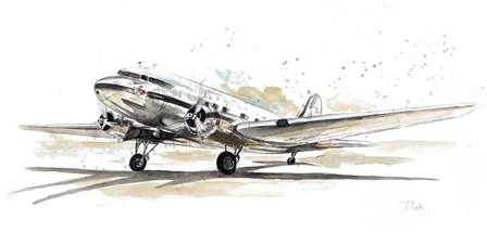 DC3 Airplane by Patricia Pinto art print