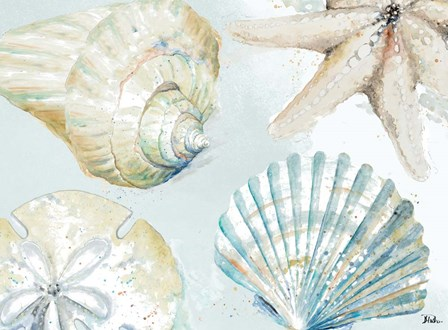 Shell Collectors by Patricia Pinto art print