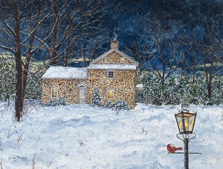 Stone House by James Redding art print