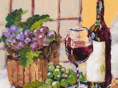 Classic Wine Still Life by Jane Slivka art print