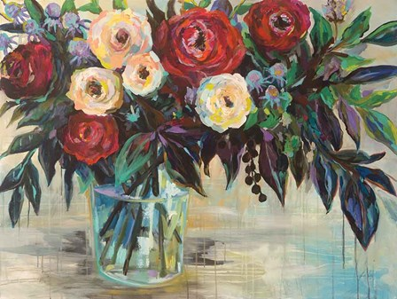 Winter Floral by Jeanette Vertentes art print