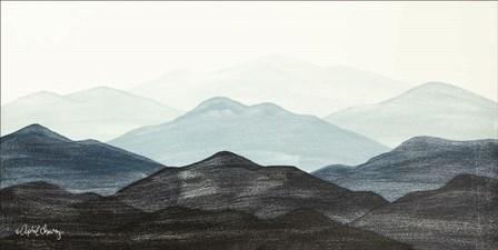 Blue Ridge Mountain Range I by April Chavez art print