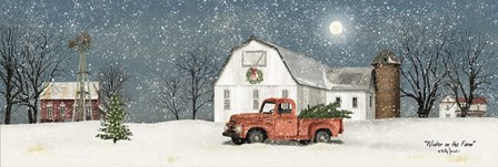 Winter on the Farm by Billy Jacobs art print