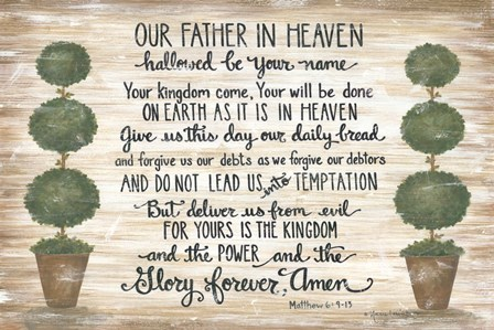 Our Father in Heaven by Annie Lapoint art print