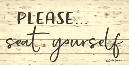 Please Seat Yourself by Susie Boyer art print