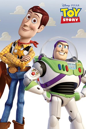 Toy Story - Woody and Buzz art print