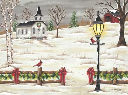 Christmas Lamppost by Lisa Kennedy art print