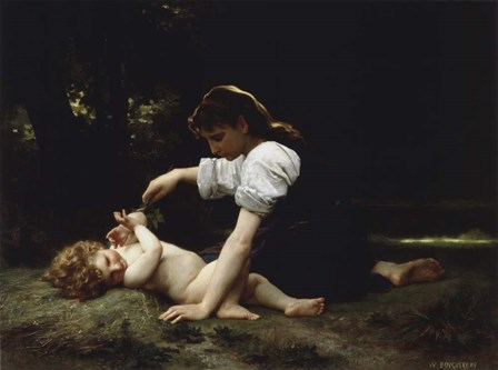 Young Woman and Child, 1881 by William Adolphe Bouguereau art print