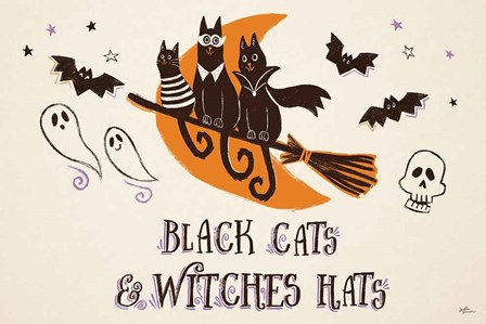 Spooktacular I Witches Hats by Janelle Penner art print