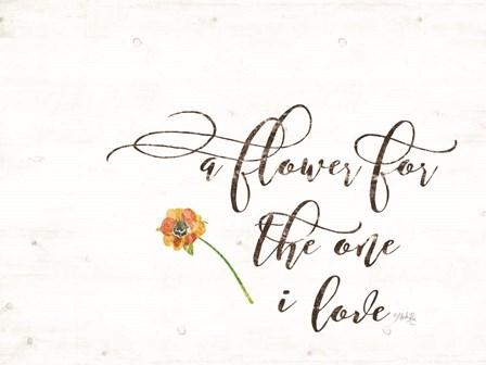 A Flower by Marla Rae art print