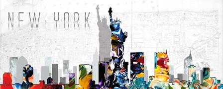 New York I by Michel Keck art print