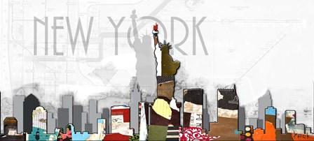 New York V by Michel Keck art print