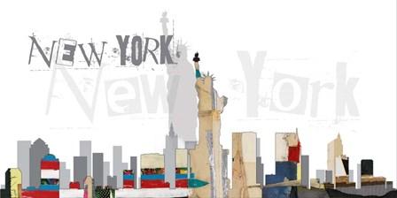 New York VII by Michel Keck art print