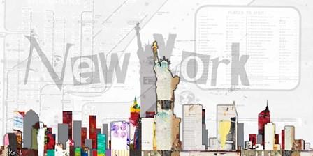 New York VIII by Michel Keck art print