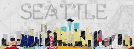 Seattle by Michel Keck art print