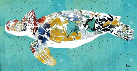 Sea Turtle by Michel Keck art print