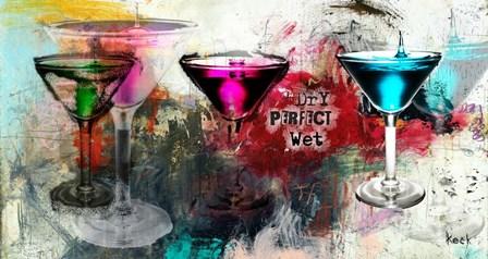 Martini Glasses by Michel Keck art print