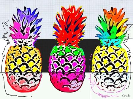Pineapples I by Michel Keck art print