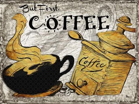 Coffee by Michel Keck art print