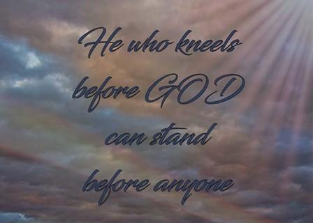 He Who Kneels by Larry McFerrin art print