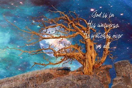 God in His Universe by Ramona Murdock art print