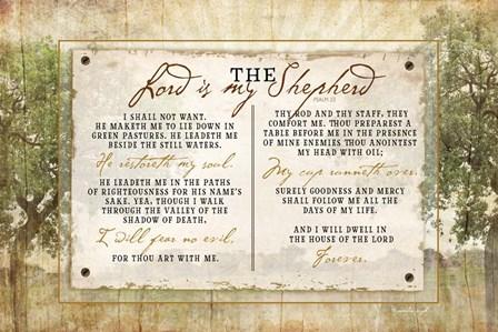 The Lord is My Shepherd by Jennifer Pugh art print