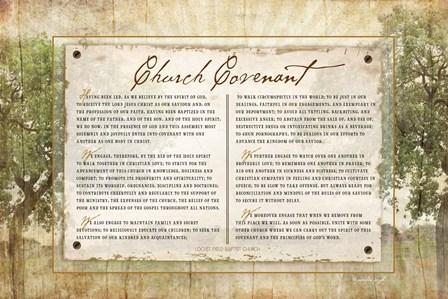 Church Covenant by Jennifer Pugh art print