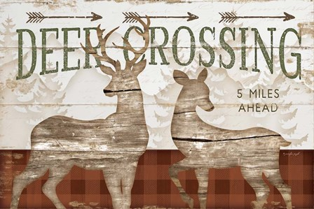 Deer Crossing by Jennifer Pugh art print