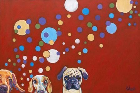 When Dogs Drink by Kathryn Wronski art print