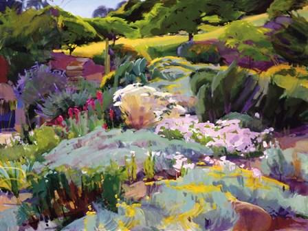 Hillside Garden by Marcia Burtt art print