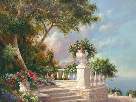 Balcony at Lake Como by Art Fronckowiak art print