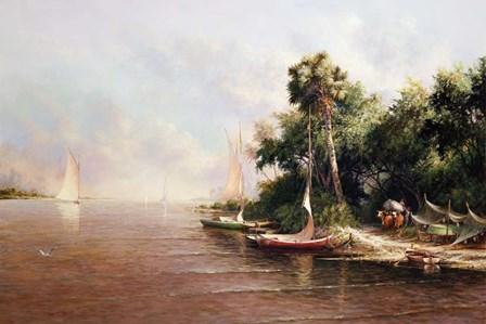 Fisherman Landing by Art Fronckowiak art print