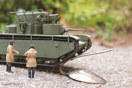 Army Bending Spoons by Gareth McGorman art print