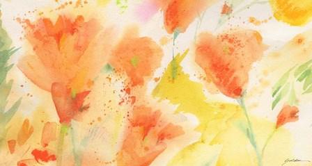 Windblown Poppies #1 by Sheila Golden art print
