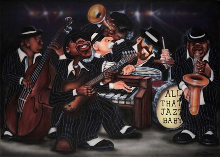 All That Jazz, Baby! by Leonard Jones art print