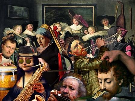 Dinner Music by Barry Kite art print