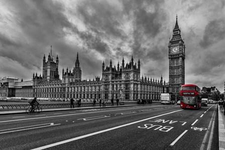 Double Decker, London by Vladimir Kostka art print