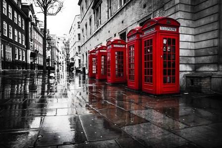 London Phones by Vladimir Kostka art print