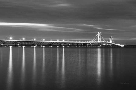 Mackinac Bridge BW by Alan Majchrowicz art print