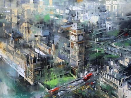 London Green - Big Ben by Mark Lague art print