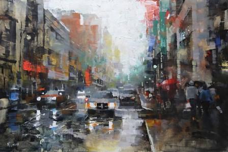 Montreal Rain by Mark Lague art print