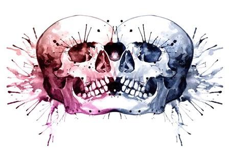 Conjoined Skull by Sam Nagel art print