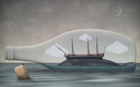 Voyage in a Bottle by Greg Noblin art print