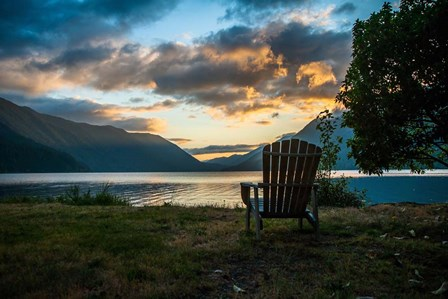 Crescent Lake Chair by Tim Oldford art print