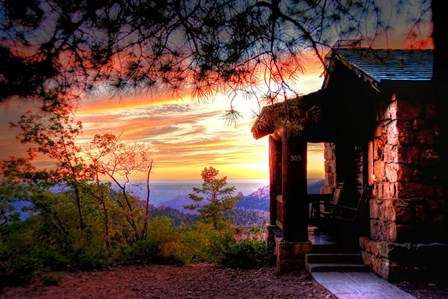 Grand Canyon Cabin by Tim Oldford art print