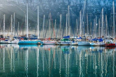 Hout Bay Harbor, Hout Bay South Africa by Richard Silver art print