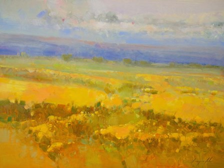 Field of Yellow Flowers by Vahe Yeremyan art print